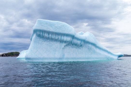 Ice Berg Floating in Spring
