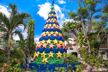 Christmas Tree Celebration 2016 at central square in el Nido on Palawan. Philippines.