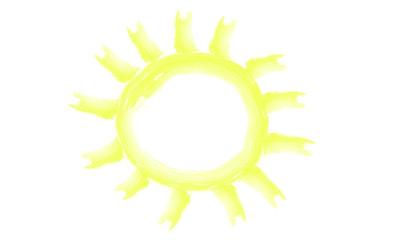 Watercolour sun hand drawn vector eps 10