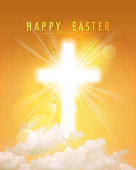 Happy Easter religious card