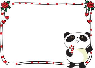 panda with border