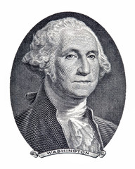 Save Download Preview Portrait of first U.S. president George Washington as he looks on one dollar bill obverse.