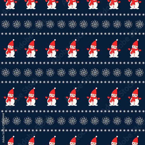 Vector holidays background for new year and Christmas. Sweater style design for fabric, textile, wallpaper and decor.