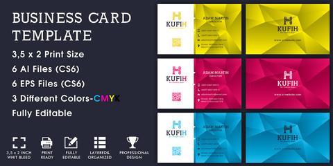 Kufih Corporate Business Card Template