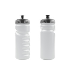 Plastic sport water bottle isolated