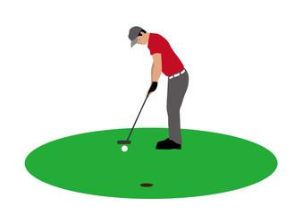 ゴルフプレーヤーのイラスト