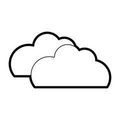 line nature clouds weather in the sky icon
