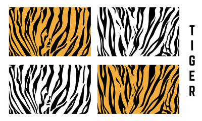 set of Abstract Tiger skin Pattern, Tiger skin pattern