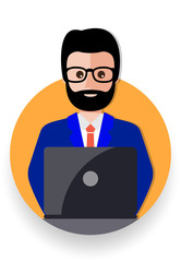 business man cartoon icon vector illustration avatar