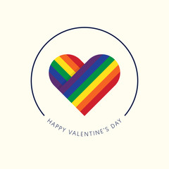 Valentine's day background, LGBT rights and equality concept