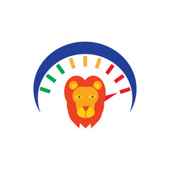 Lion Speed Logo Icon Design