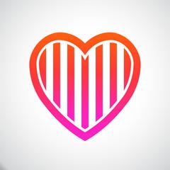 Heart Stripes. Vector Illustration