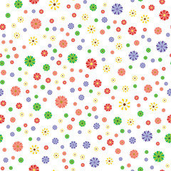Background scene with flowers Vector Illustration. Seamless pattern.