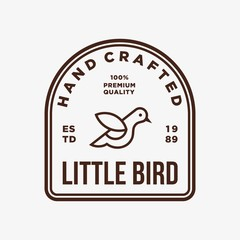 bird - vector logo/icon illustration label