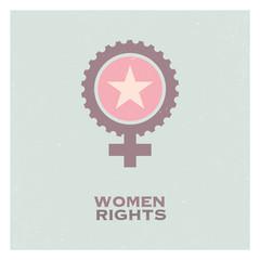 Retro Pop Propaganda Female Woman Feminism Logo Icon And Elements.
