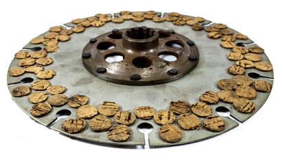 Antique automotive cork clutch disc assembly
