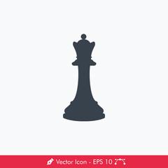 Queen Icon / Vector (Chess Pieces/Chessman)