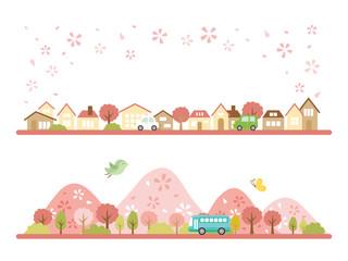 春の街並み バナーセット