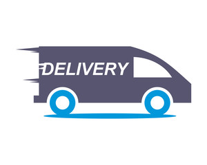 delivery car transportation vehicle ride drive image vector icon