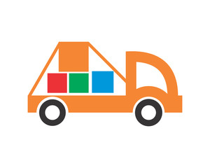 pick up car transportation vehicle ride drive image vector icon