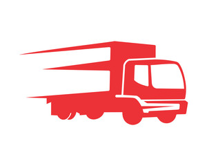 red truck transportation vehicle ride drive image vector icon