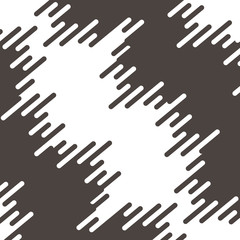 Vector monochrome pattern, vertical rounded lines, black & white halftone transition. Modern trendy abstract endless texture. on white background
