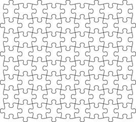 ジグソーパズル背景 モノクロ