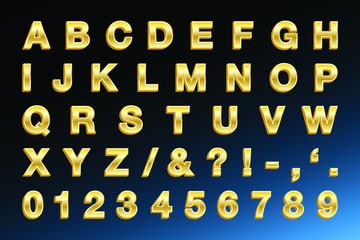 Golden Letters - Bold 3D Golden Type
