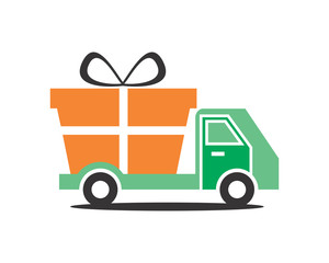 gift pick up car transportation vehicle ride drive image vector icon