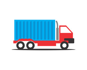 blue box car transportation vehicle ride drive image vector icon