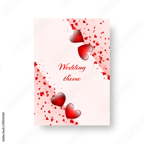 Romantic Invitation Template For St Valentines Day Or Birthday