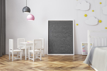 Nursery with a blackboard