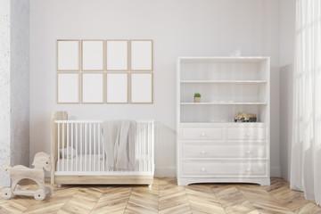 White nursery interior, poster gallery