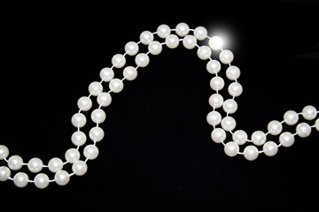 pearls isolated on white background