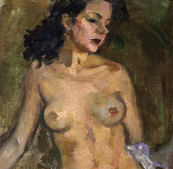 oil painting, portrait nude