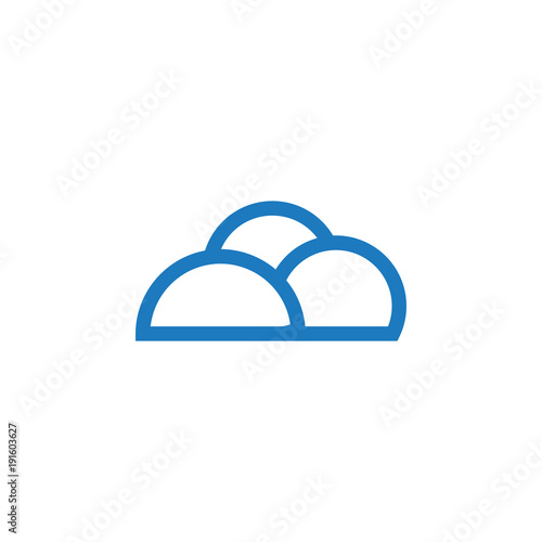 Outline Blue Cloud Graphic Template