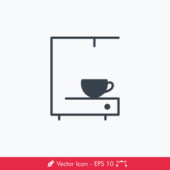 Coffee Maker Icon / Vector