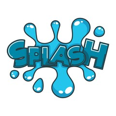 Comic splash water speech bubble cloud explode cartoon vector icon