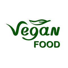 Vegan Food Labels Logos Sign