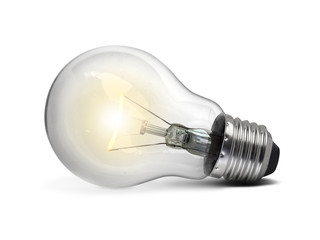 Light bulb, isolated, on white background