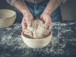 baking delicious bread using bannetons made of wood