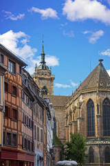 Colmar. Collégiale Saint Martin, Haut Rhin, Alsace. Grand Est