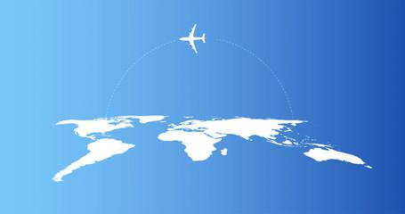 mappa, viaggiare, volo, areo,