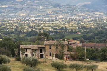 Landscape in Umbria at summer