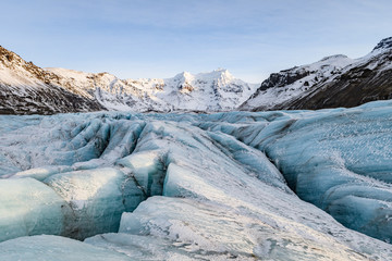 Printed kitchen splashbacks Glaciers vatnajokull frozen glacier landscape, iceland