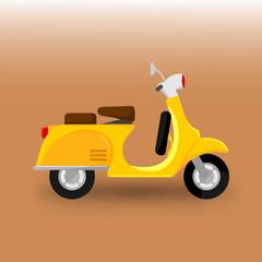 Scooter Bike Transportation Illustration
