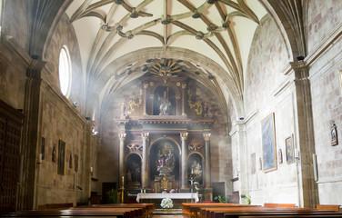 Interior view of a church.