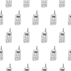 mobile phone seamless vector pattern