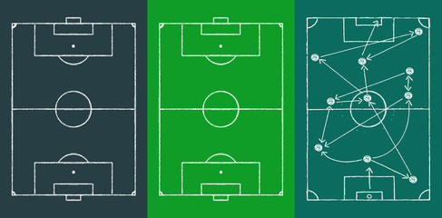 Grungy Soccer field and stratetgy scribble,design templates,vector