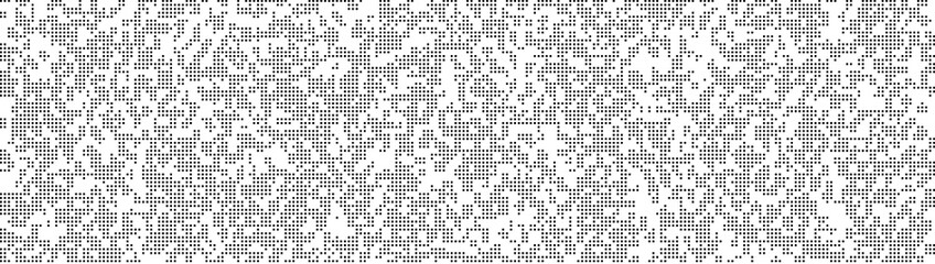 Pixel abstract mosaic background Gradient design Isolated black elements on white background. Monochromatic Abstract Background. Vector illustration for website, card, poster